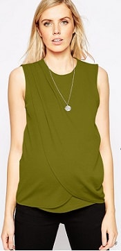 ASOS Maternity Nursing Top with Wrap Overlay