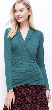 Ann Taylor Sweater Jersey Wrap Top