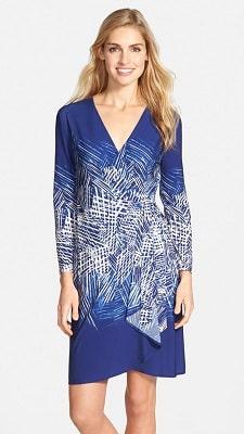 Washable Wednesday: Adele Print Matte Jersey Wrap Dress