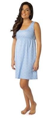Baby Be Mine Sleeveless Maternity Nursing Nightgown   Corporette