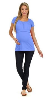 BellyMoms Alexa Empire Waist Maternity and Nursing Top | CorporetteMoms