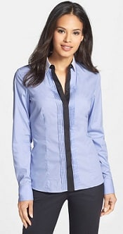 Boss Rodera Colorblock Pleat Front Shirt