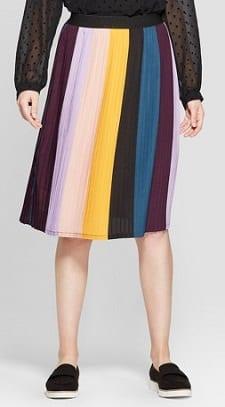 43a60bbb432d8 Budget Thursday  Striped Pleated Skirt - CorporetteMoms