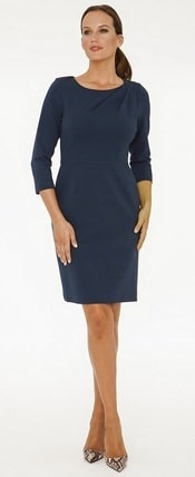 Dobbin Belle Stretch Ponte Twist Dress | CorporetteMoms