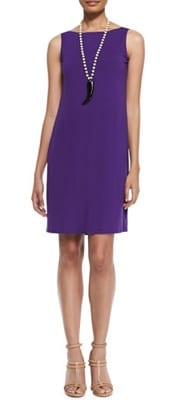 Eileen Fisher Washable Sleeveless Jersey Shift Dress | CorporetteMoms