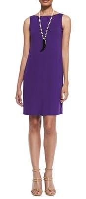 Eileen Fisher Washable Sleeveless Jersey Shift Dress | CorporetteMoms