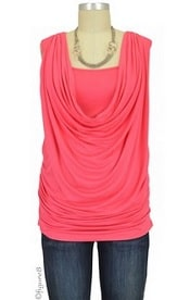 Everly Gray Allison Drape Nursing Top | CorporetteMoms