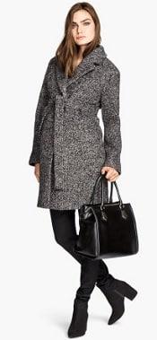 HM Mama Wool Boucle Coat