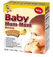 Hot-Kid Baby Mum-Mum Banana Flavor Rice Biscuit | CorporetteMoms