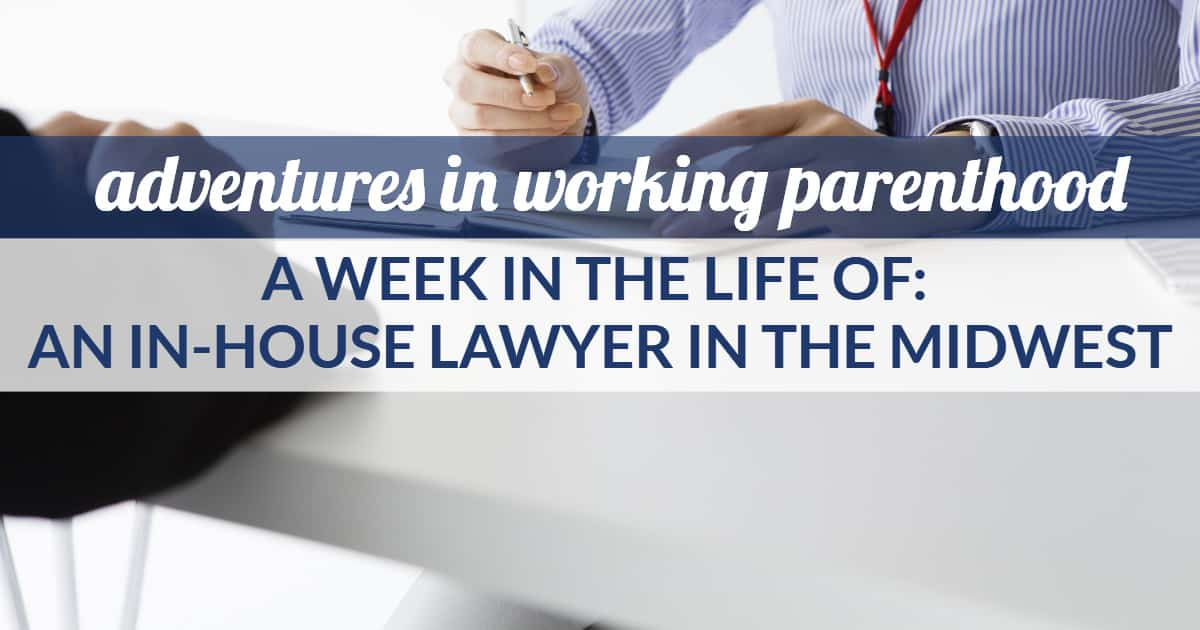 in-house counsel work life balance - image of a woman reviewing a contract