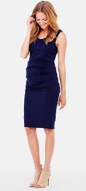 Ingrid-Isabel-Ruched-Maternity Tank Dress