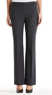 JNY Collection Gray Flat Front Washable Wool Pants