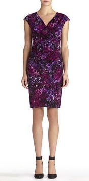 Jones New York Sheath Dress with Cap Sleeves and Side Ruching | CorporetteMoms