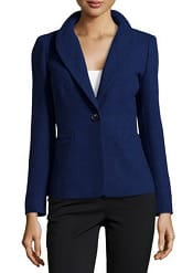 Lafayette 148 New York Tweed One-Button Jacket | CorporetteMoms