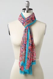 Lands' End Hyper Medallion Tiled Scarf | CorporetteMoms