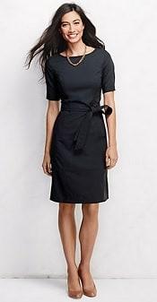 Lands' End Short Sleeve Washable Wool Dress | CorporetteMoms