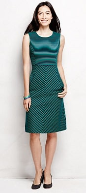Lands' End Stripe Welt Pocket Sheath Dress | CorporetteMoms