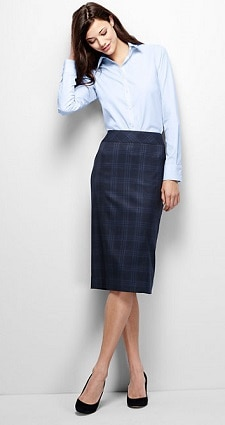 Lands' End Wear to Work Pencil Skirt | Corporette