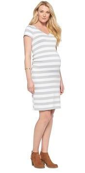 Liz Lange® for Target®Maternity V-Neck Tee Shirt Dress | CorporetteMoms