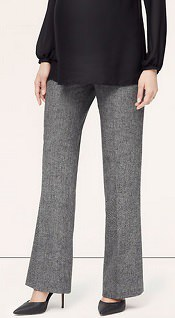 Loft Peppered Tweed Pleated Wide-Leg Trousers | CorporetteMoms
