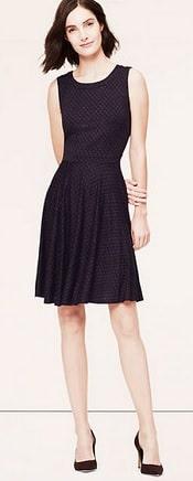 Loft Spotted Skirt Dress | Corporette