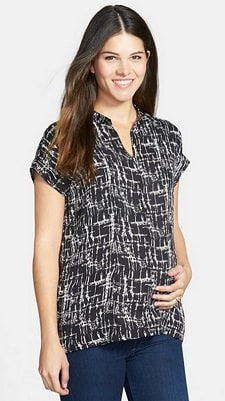 Loyal Hana 'Carrie' V-Neck Maternity Top | CorporetteMoms