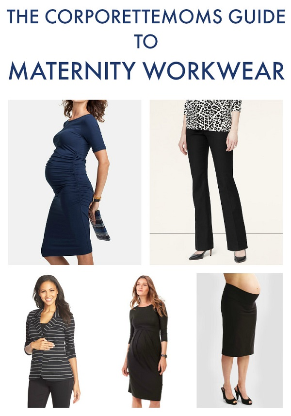 collage of maternity workwear