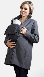 Modern Eternity A-Line Convertible Maternity Swing Coat | CorporetteMoms