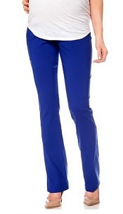 Motherhood Maternity Slim-Leg Twill Pants | CorporetteMoms