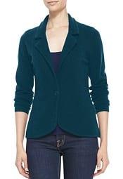 Neiman Marcus One-Button Cashmere Blazer | CorporetteMoms