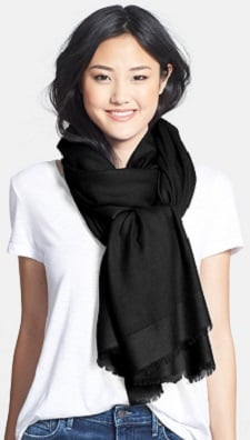 Everyone Thursday: Tissue Weight Wool Cashmere Wrap