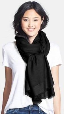 Nordstrom Tissue Weight Wool Cashmere Wrap