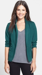 Olivia Moon Three Quarter Sleeve Knit Blazer | CorporetteMoms