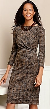 Talbots City Jersey Print Dress | CorporetteMoms