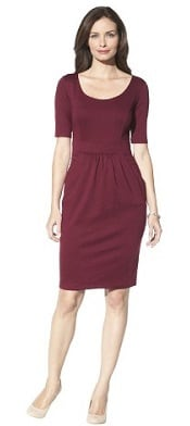 Target Merona Ponte Elbow Pockets Dress