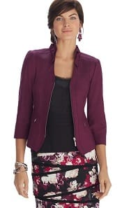 WHBM Perfect Form Ponte Burgundy Jacket