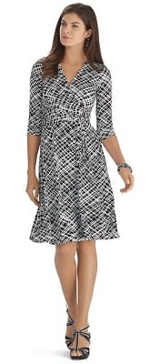 WHBM Printed Wrap Dress