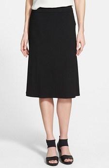 Washable Skirt: Eileen Fisher Knee-Length Flared Skirt