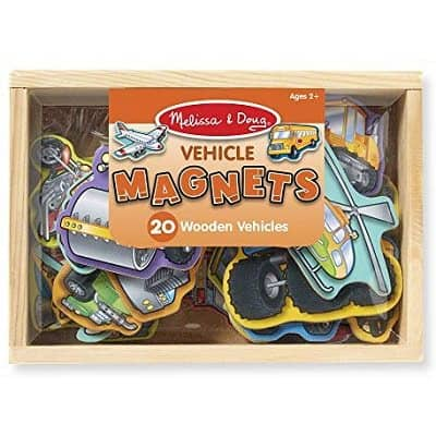 Weekend & Family Friday: Wooden Vehicle Magnets in a Box