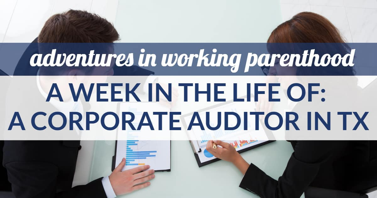 auditor mom work-life balance - image of a business woman reviewing bar charts with a man