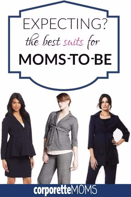 If you're a pregnant lawyer, what should you wear to court? In general, which are the best business suits for expecting mothers? How DO you look great while pregnant in the C-suite? We rounded up the best (of some bad options) of maternity suits for workwear, and our readers (professional working moms) shared tips on what they wore instead of a suit while they were pregnant. | CorporetteMoms