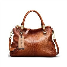 Brown Leather Handbag: Jack&Chris Vintage Leather Tote