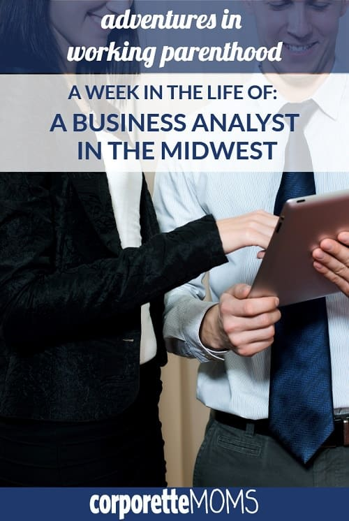 """In this installment in our popular """"Week in the Life of a Working Mom"""" series, a business analyst mom working in the Midwest shares what her life is like with her husband, her toddler son, including daycare, sharing parental responsibilities, having family in Europe, having a baby during MBA school, and more!"""