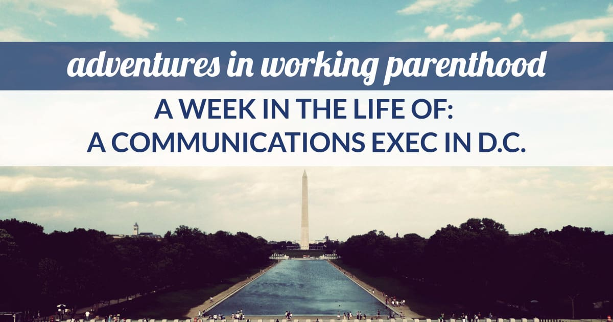 communications executive mom in DC with a nanny share