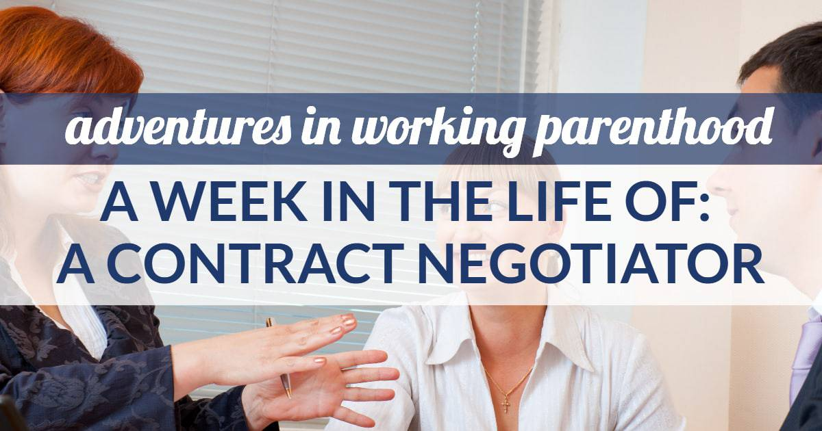 contract negotiator work-life balance - image of a working mom negotiating contracts for a midwestern city