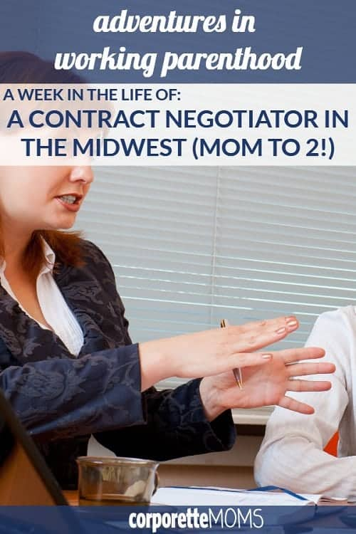 A contract negotiator in the Midwest shares her work-life balance with us, including how she and her husband juggle their two kids, keep meal planning simple, avoid family drama, and shares her thoughts on leaving her law practice for corporate America and a family-friendly, flexible workplace.
