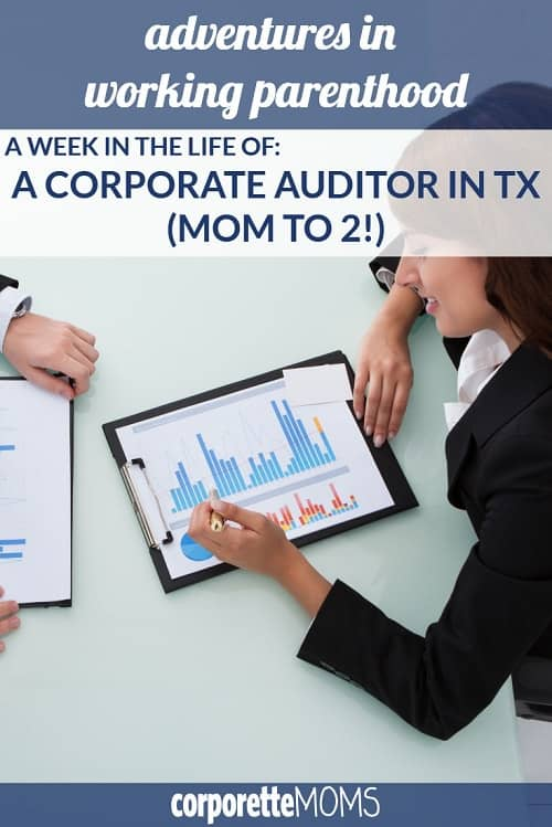 In this post, a working mom shares her work-life balance as a corporate auditor in TX, including how she and her husband juggle their two kids, commuting across state lines, traveling often for work, and more.