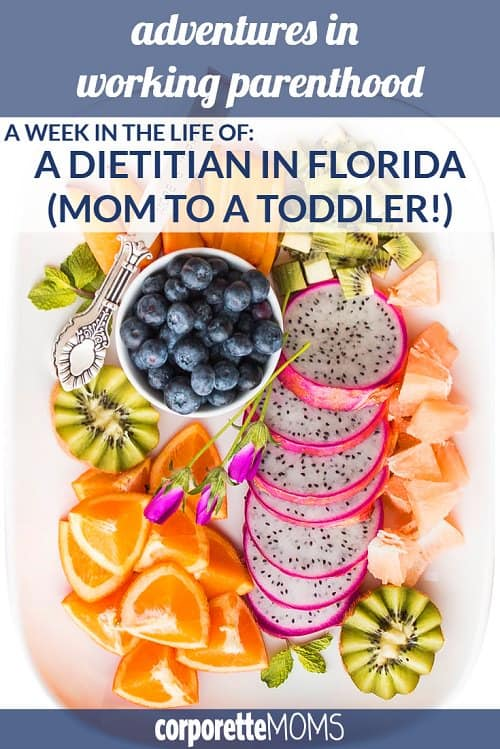 This week's featured working mom is a dietician in Florida and mom to a 3-year-old! She shares her advice on work-life balance (including taking her son to work with her the first few months!) and her challenges with finding time to work out as a busy mom.