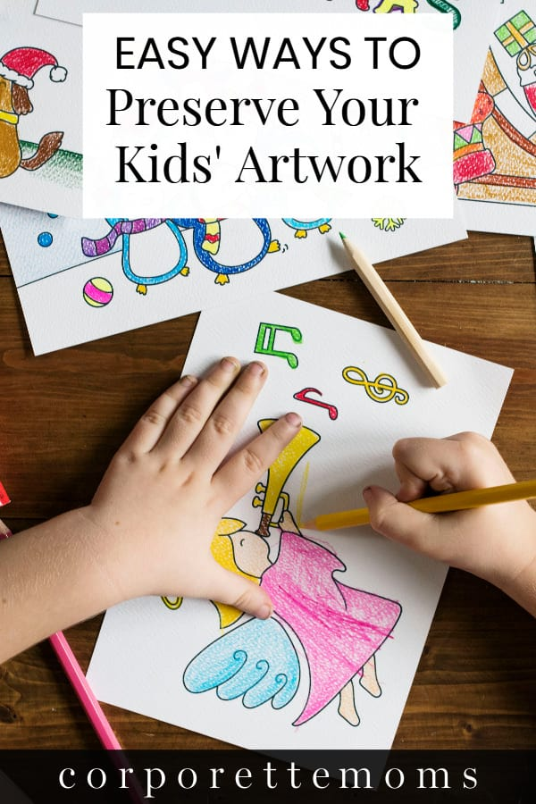 Feel like you're drowning in all of your kids' artwork? We looked at some easy ways to preserve your child's artwork without keeping EVERYTHING, including apps like Artkive, Plum Print, and Keepy -- as well as some older ways to preserve artwork like acid-free boxes, scrapbooks and more.