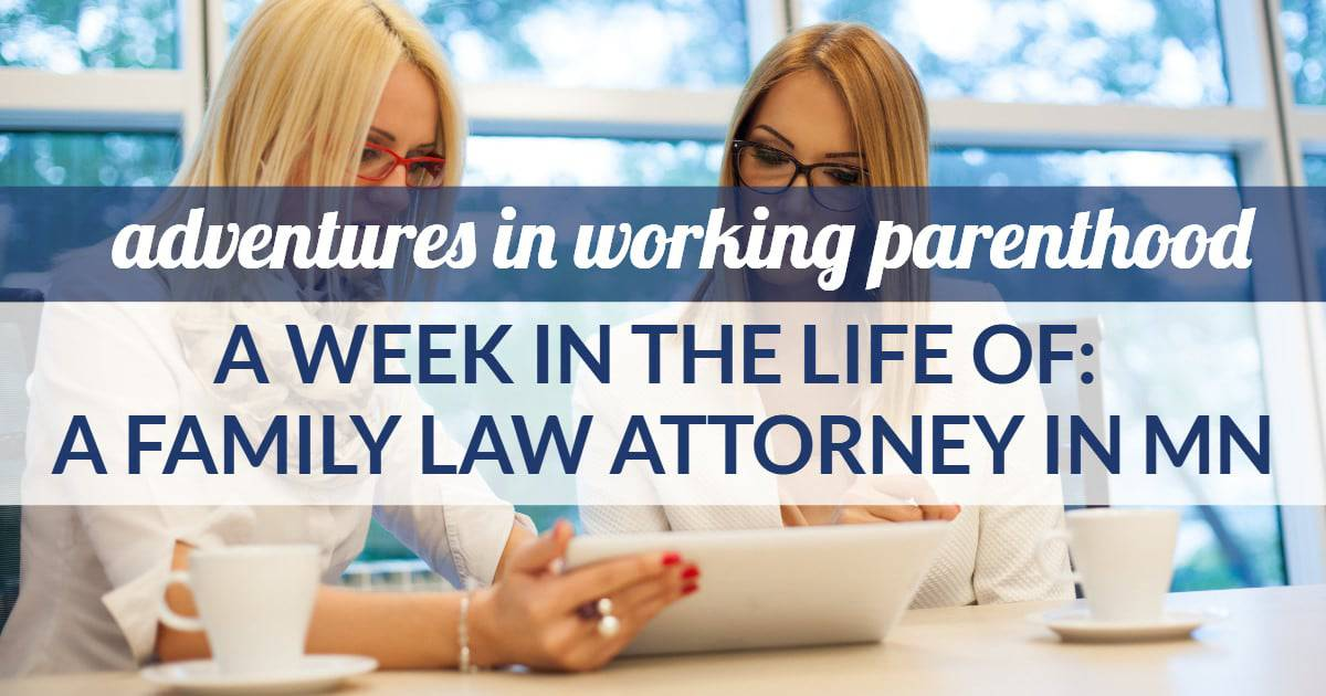 family law attorney work-life balance in MN - image of a woman working with her divorce attorney